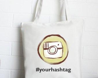Tote bag personnalisé par sacpub avec logo instagram